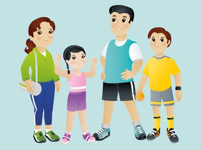 Mexican Family 3 characters character design sporty sneakers family sports kids illustration kids book kids mexican children book illustration adobeillustrator design big eyes adobe illustrator vector art vector illustration digital illustration