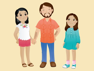 Mexican Family 4 kidlit kids kids illustration family characters character design mexican children book illustration adobeillustrator design big eyes adobe illustrator vector art vector illustration digital illustration
