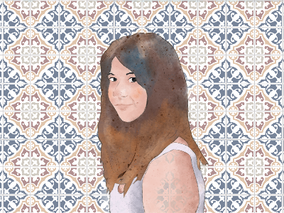 Ale girl creative floors character drawing illustration portrait