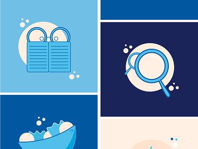 Bwaiter saas design saas app ui design branding illustration design blue digital artwork graphic design