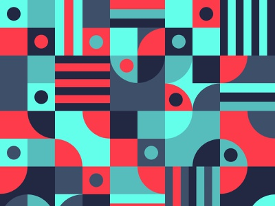 abstract geometry pattern flat vector design illustration