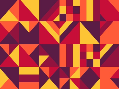 abstract geometry pattern flat vector design