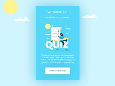 Quiz App Onboarding screen ios android onboarding screen contest app app design blue ux design ui design gradient illustration app quiz app