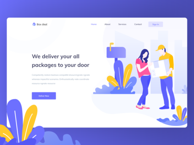 Delivery header website