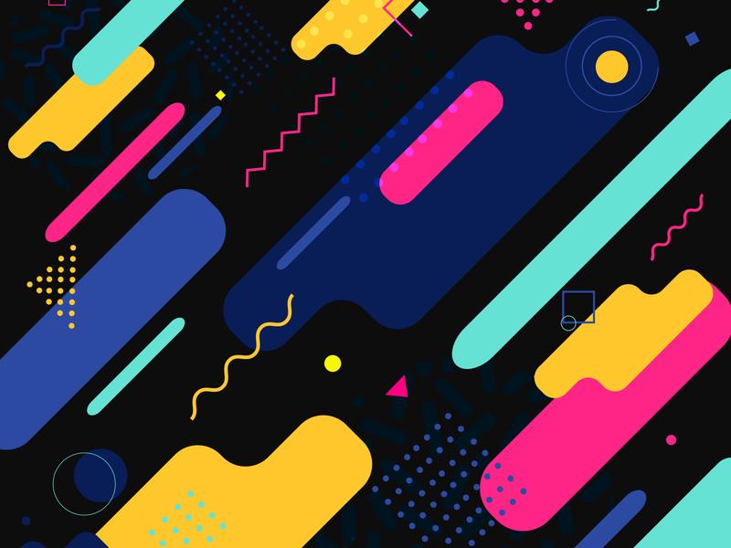 Memphis style trendy background design graphic memphis abstract illustration pop art geometric shapes backdrop brochure motion futurism minimal geometry modern element vintage hipster retro print shapes concept