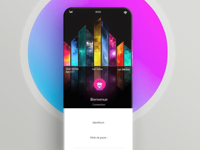 UI design «wellcome» phone phoneconcept