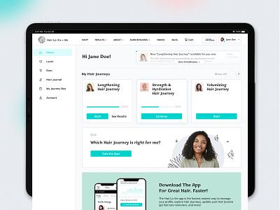 Dashboard health subscription dashboad portal hair beauty web app