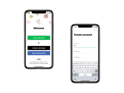 Onboarding screens login material design mobile app android ios registration signup onboarding