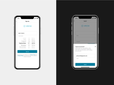 Signup and Login screens onboarding android app ios signup login app ui