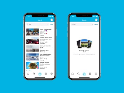 Search screen mobile vr 360 video blue search android ios ui
