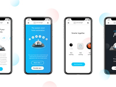 Concierge - Mobile design