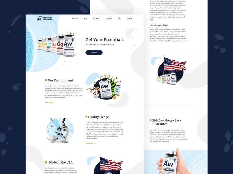 Essential Elements Rebranding branding website ui style logo brand design art direction color vitamins
