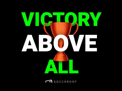 """Socceroof """"Victory Above All"""" color brand visual soccer sport run workout illustraion"""