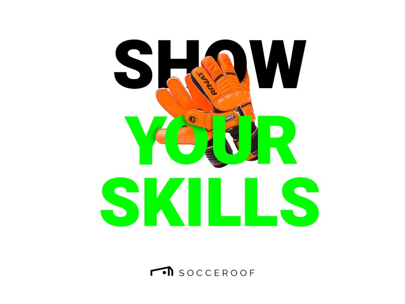"Socceroof ""Show Your Skills"" color brand visual soccer sport run workout illustraion"