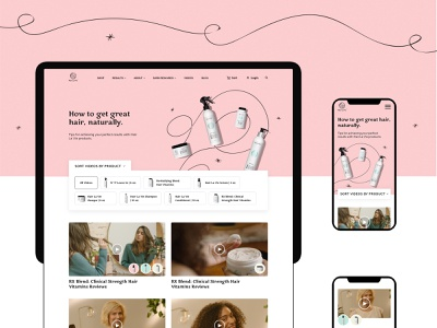 Video page health vitamins product art direction style color design branding website ui video