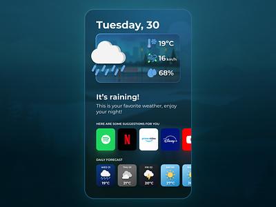 Weather App weather illustration app ui design
