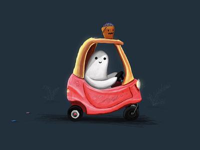 Boo 👻 digital art procreate illustration halloween