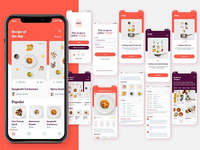 Savor   Recipe App @typography @uidesign @uiux design @visualdesign @design @app