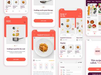 Savor   Recipe App @visualdesign @uiux @uidesign @typography @design @app