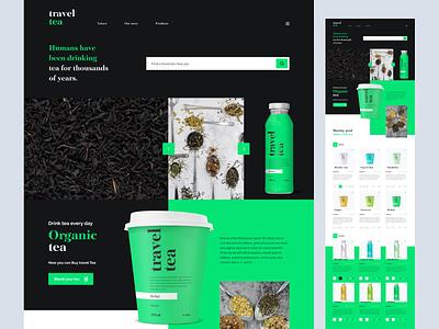 Travel tea   Landing page @uxui @web @prototyping @concept @figma @uidesign @productdesign @uiux design designofexperimentation @visualdesign @typography @design