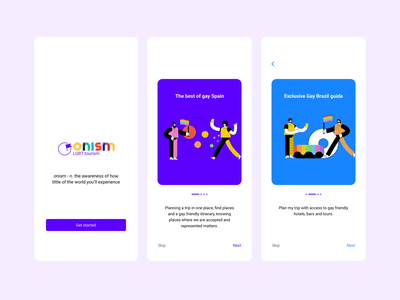 Onism - LGBT Tourism @visualdesign @uidesign designofexperimentation @concept