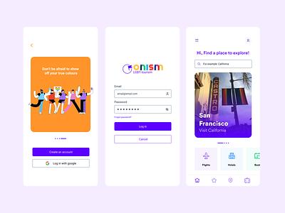 Onism - LGBT Tourism @uidesign @visualdesign designofexperimentation @concept
