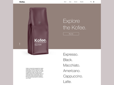 Kofee - website @uidesign designofexperimentation @visualdesign @concept