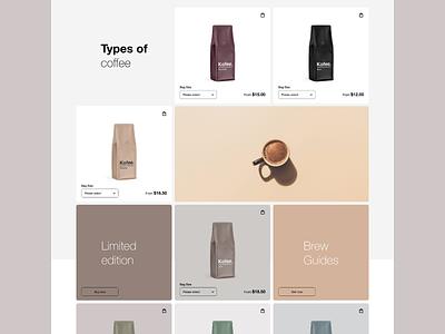 Kofee - website @visualdesign @concept @uiux design @typography design @uidesign designofexperimentation