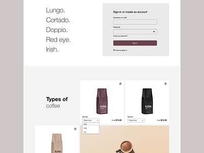 Kofee - website @visualdesign @typography @concept @uidesign designofexperimentation