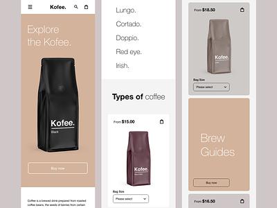 Kofee - responsive @design @uidesign designofexperimentation @visualdesign @concept