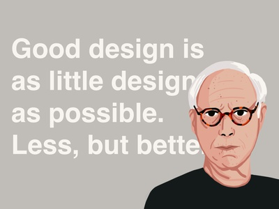 Less, but better playoff dribbble less but better good design dieter rams ipadpro illustrator 2d art procreate design draw drawing digital art illustration