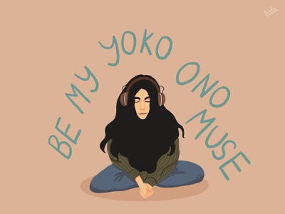 Be My Yoko Ono Muse valentine ipadpro 2d illustrator 2d art procreate design draw drawing digital art illustration