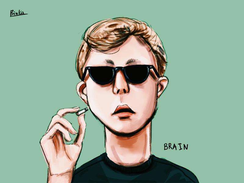 Brain fanart photoshop digital art brain breakfast club draw drawing illustration