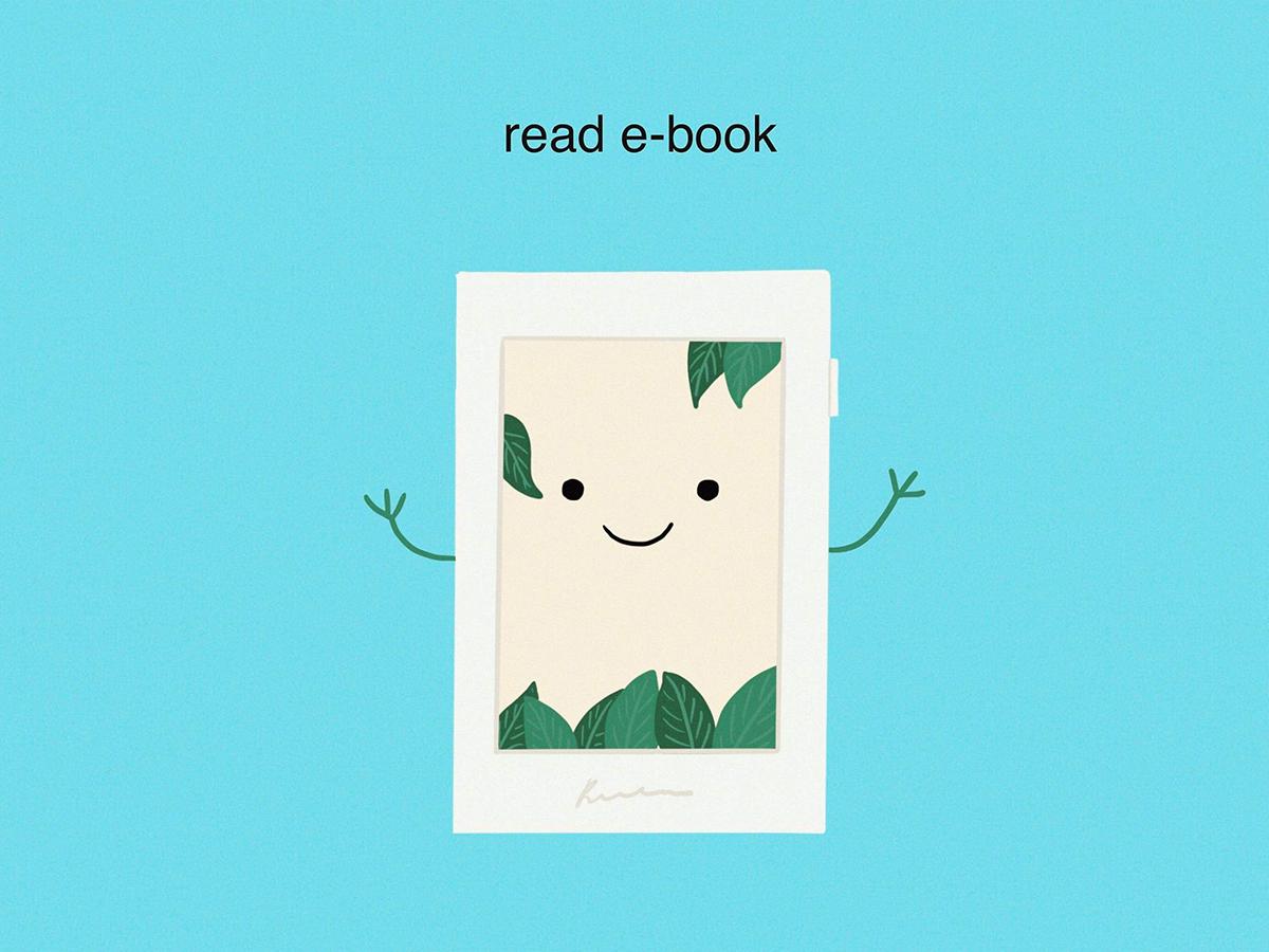 Read e-book ebooks kindle ebook ipadpro 2d art 2d zerowaste sustainable procreate flatdesign illustrator design digital art draw drawing illustration