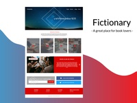 Fictionary (my first web design on Adobe Xd)