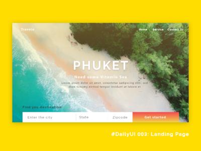 DailyUI 003: Landing page