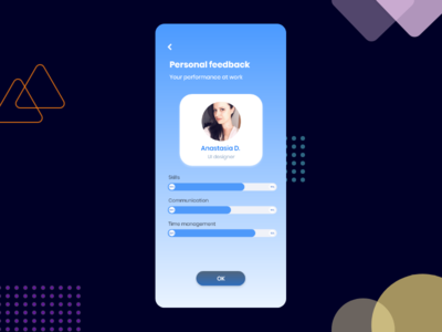 Personal Feedback UI design