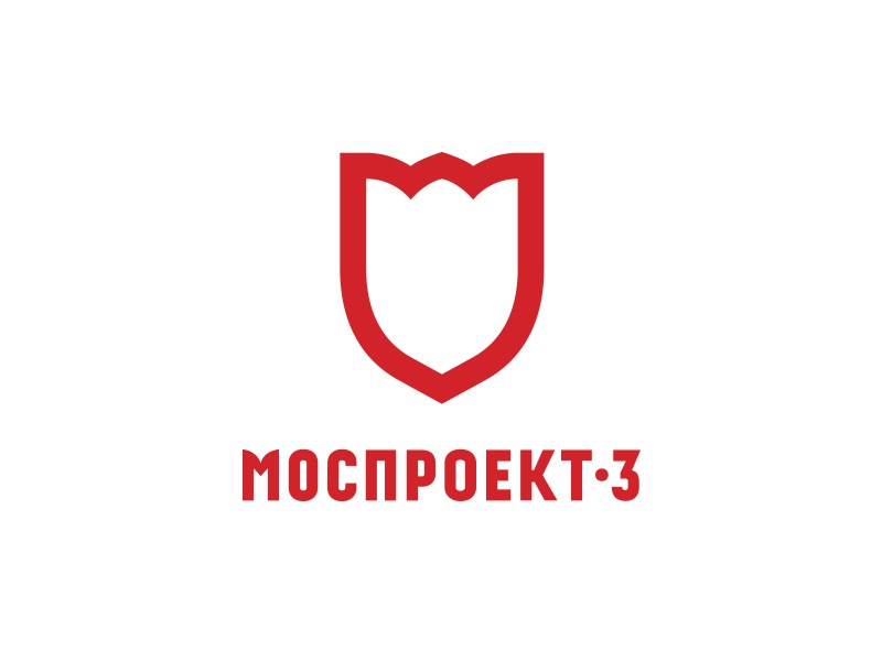 Mosproekt logo red moscow tulip
