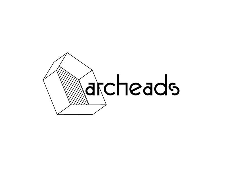 Archeads logo custom font house architecture
