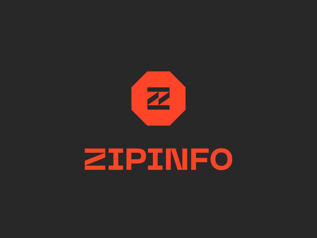 ZipInfo oil zip design branding identity logo