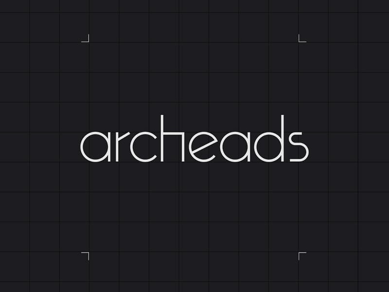 Archeads logo ui ai architecture archeads logo branding