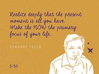 Eckhart Tolle - 30 Days / 30 Spiritual Teachers 🔮✨