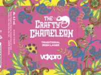 The Crafty Chameleon Beer Branding