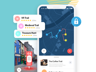 City Exploration AR Trails App