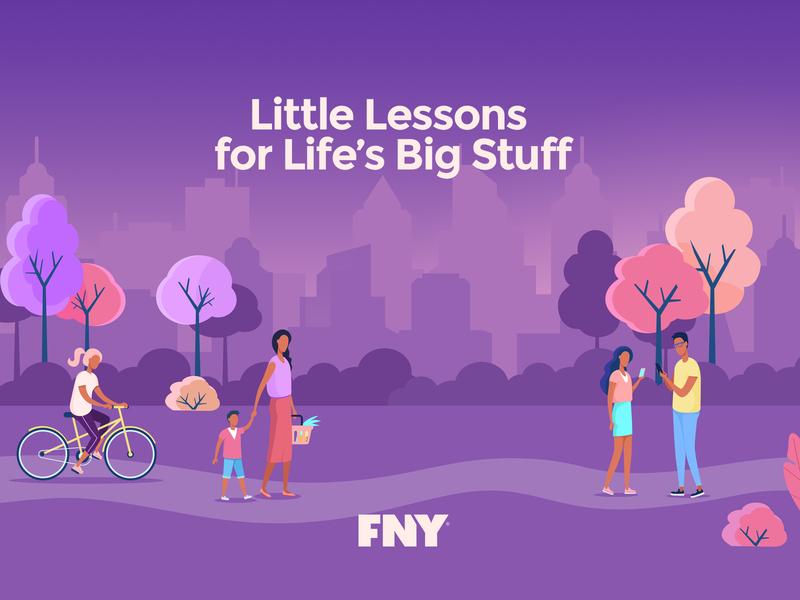 FNY Promo illustration logo app design ui branding