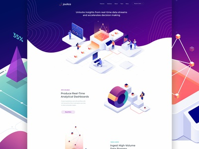 Joulica Homepage Design
