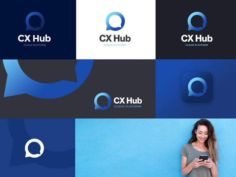 CX Hub Branding logo branding