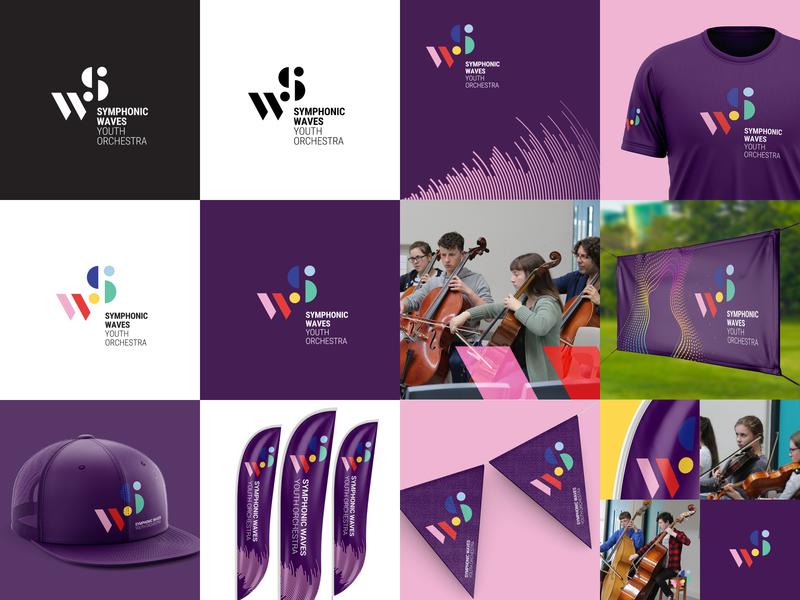 Symphonic Waves Branding logo branding youth orchestra