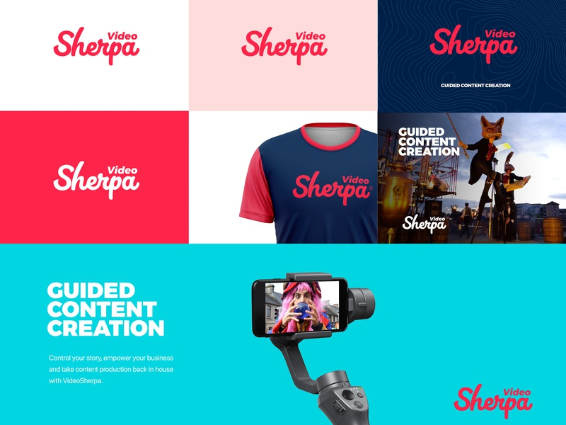 Video Sherpa Branding logo branding