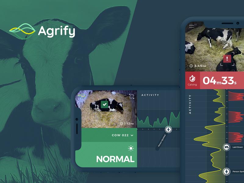 Agrify - BirthAlert Product Design ux ui app design logo branding